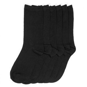 PACK OF 12 : Mid-Rise Socks Set 70501_BLACK